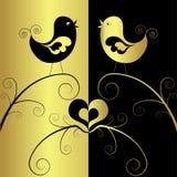 Uccelli nell'amore, vettore Immagine Stock