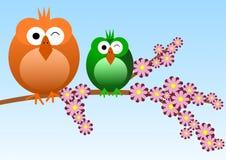 Uccelli su una filiale royalty illustrazione gratis