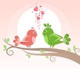 Uccelli sull'albero Immagini Stock