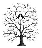 Uccelli sull'albero Fotografia Stock Libera da Diritti