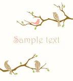 Uccelli sulle filiali illustrazione vettoriale