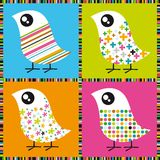 Uccelli variopinti illustrazione di stock