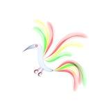 Uccello astratto su fondo bianco Fotografia Stock Libera da Diritti
