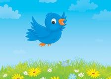 Uccello blu illustrazione vettoriale