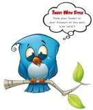 Uccello blu del Tweeter impressionabile illustrazione di stock