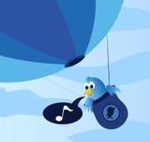 Uccello blu sociale Immagini Stock Libere da Diritti