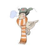 Uccello che indossa un cappuccio Fotografie Stock