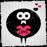Uccello che tiene un cuore Immagine Stock