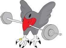 Uccello con i pesi illustrazione vettoriale