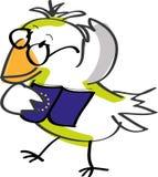 Uccello con il libro Immagine Stock Libera da Diritti