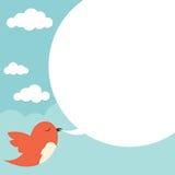 Uccello con la bolla di discorso Immagini Stock Libere da Diritti