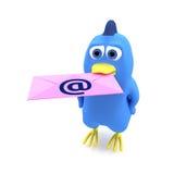 Uccello con posta Fotografie Stock