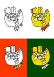 Uccello-con-stella Immagini Stock