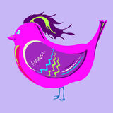 Uccello cremisi allegro Fotografia Stock Libera da Diritti