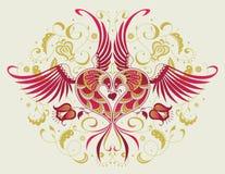 Uccello-cuore Fotografie Stock