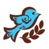 Uccello decorativo con grano Fotografia Stock
