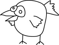 Uccello del fumetto Immagine Stock Libera da Diritti