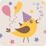 Uccello del partito Fotografie Stock Libere da Diritti