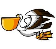 Uccello del pellicano illustrazione vettoriale