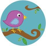 Uccello del punto sulla filiale di albero Illustrazione Vettoriale