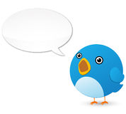 Uccello del Twitter Immagini Stock Libere da Diritti