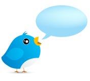 Uccello del Twitter Fotografie Stock Libere da Diritti