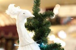 Uccello delle decorazioni di Natale Fotografia Stock Libera da Diritti