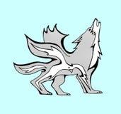 Uccello dentro un lupo alato royalty illustrazione gratis