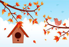 Uccello di autunno Fotografia Stock Libera da Diritti