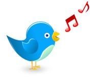 Uccello di canto Immagine Stock