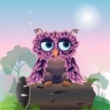 Uccello di Cuty nel legno Royalty Illustrazione gratis