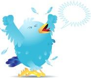 Uccello di grido del twitter Immagine Stock Libera da Diritti