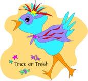 Uccello di Halloween dell'ossequio o di trucco Fotografie Stock Libere da Diritti