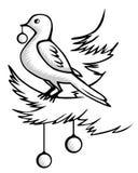 Uccello di Natale Fotografia Stock Libera da Diritti