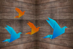 Uccello di Origami Immagine Stock