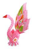 Uccello di Origami_pink Fotografie Stock