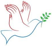 Uccello di pace Fotografia Stock