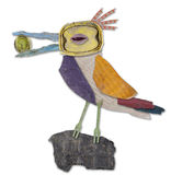 Uccello di plastica dei rifiuti Fotografia Stock Libera da Diritti