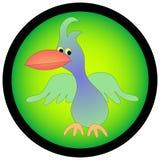 Uccello di sguardo tropicale del fumetto. Immagini Stock Libere da Diritti