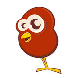 Uccello divertente del fumetto Fotografie Stock