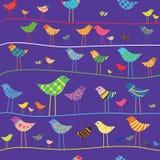 Uccello divertente di vettore. Reticolo senza giunte. royalty illustrazione gratis