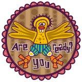 Uccello divertente giallo Immagine Stock Libera da Diritti