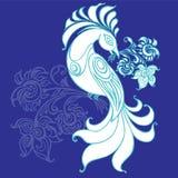 Uccello e bello fiore Royalty Illustrazione gratis