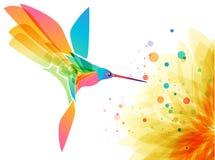 Uccello e fiore di olibri del ¡ di Ð royalty illustrazione gratis