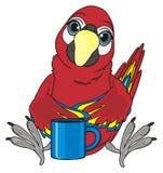 Uccello e tazza Immagini Stock