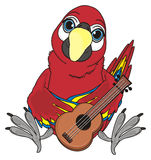 Uccello ed oggetto di musica Fotografia Stock Libera da Diritti