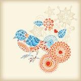 Uccello floreale Fotografie Stock Libere da Diritti