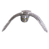 Uccello grigio del gufo illustrazione di stock