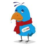 Uccello malato Fotografia Stock Libera da Diritti