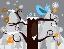 Uccello nell'inverno Fotografia Stock Libera da Diritti